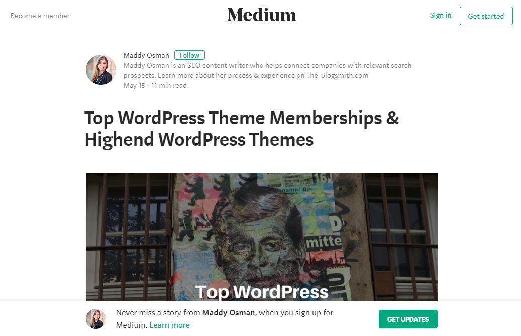 7 Minimalist WordPress Themes Like Medium